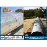 China Overlap Conncetion Conical Polygonal Telecomminication Monopole Steel Tubular Pole on sale
