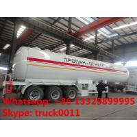 China 59600 liters ASME Material tri-axle Gas delivery trailer for sale, lpp trailer for sale, 25tons bulk propan gas trailer on sale
