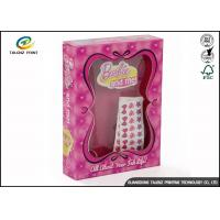 Quality Pink Color Corrugated Carton Box / Children Toy Paper Packaging Box for sale