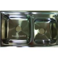 Quality China Factory Suppy double sink kitchenStainless Steel  Sink WY-7742D for sale