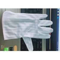 Buy Double Faced ESD Anti Static Gloves Fiber Conductive Featuring Free Samples at wholesale prices