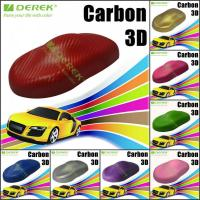 Quality 3D Carbon Fiber Vinyl Wrapping Film bubble free 1.52*30m/roll - Red for sale
