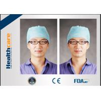 Quality Medical Blue Disposable Head Cap Nonwoven Doctor Cap With Elastic Back And Floral for sale