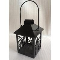 Best Small Black Lantern Decorative Candle Holders Garden Hanging Tealight Holder wholesale