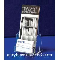 Quality Manufacture Customized Plexiglass Brochure Display Stand Acrylic Brochure Holder for sale