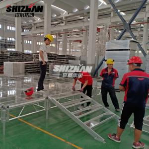 Quality Aluminium Alloy 6082-T6 Glass Stage For Wedding Event 200x200mm for sale