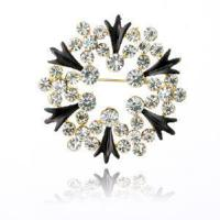 Quality Fashion Alloy Rhinestone Brooch with Round Style (BH-013) for sale