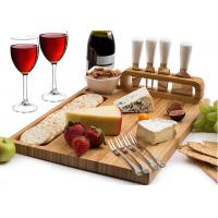Quality Customized Bamboo Cheese Knife And Cutting Board Set Formaldehyde Free for sale