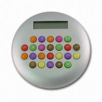 Quality Novelty Calculator with Eight-digit LCD Panel, Various Colors are Available for sale