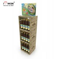 Quality Your Logo Wine Display Stand Metal Drinks Or Wine Retail Bottle Store Display for sale