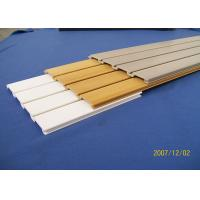 Best Smooth Plastic Slat Wall Panels With Cellular PVC For Craft Room wholesale