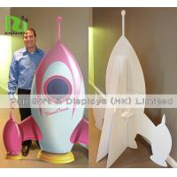 Quality Cardboard Standee Display Stand Funny Rocket Shape POS Retail Hanging Display for sale