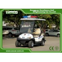 Quality White 4 Seater Electric Security Patrol Vehicles 48V 3.7KW Aluminum Material for sale