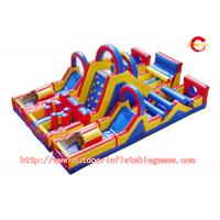 Best PVC Commercial Grade Adults Inflatable Obstacle Course For Water Game wholesale