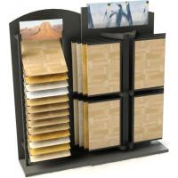 Quality Convenience store unique wood flooring display racks with angle shelving, page frame for sale
