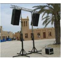Quality Black Color  Adjustable 2M To 6M Theatrical Light Truss Stands / Concert Truss System For Party Truss for sale