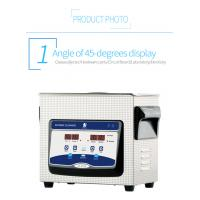 Buy cheap Small Benchtop Ultrasonic Cleaner 3L Ultrasonic Bath Cleaner 40KHz 120W For Lab from wholesalers