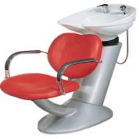 Quality Durable Shampoo Chair And Bowl Combo For Hair Washing , Pu Leather Materials for sale