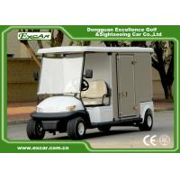 Quality EXCAR Electric Food Cart White 5KW Golf Beverage Cart With Steel Chassis for sale