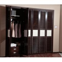 Best Black / White Hinged Door Wardrobes MDF Board Carcase Five Door Customized Size wholesale