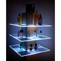 Custom liquor displays stand with led light, acrylic light box display, wine display shelf
