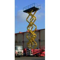 Quality Self - propelled manual scissor lift platform 6m 300kg with Hydraulic system for sale