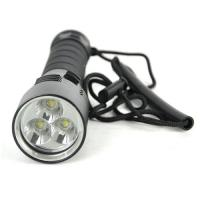 China CE FCC 3000LM Magnetic Control Black Aluminum Cree XM-L2 3 LED Diving Flashlight LED Torch Lamp Overwater 100 Meter on sale