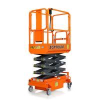 Quality Portable Scissor Lift With Extendable Platform Lift Height 3.9m Electric Drive for sale