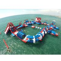Quality Custom Inflatable Water Park / PVC Fabric Sewing Water Play Equipment for sale