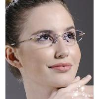 Quality Rimless Crystal Woman′s Eyewear Optical Eyeglasses Frames for sale