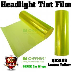 Quality Car Headlight Tint Film 3 layers 0.3*10m/roll - Lemon Yellow for sale