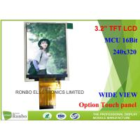 Quality TN TFT LCD Display 3.2'' 240 X 320 MCU 16 Bit Interface IC ILI9341V FPC 40 Pin for sale