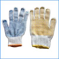 Quality Cotton Gloves with Rubber Dimples for sale