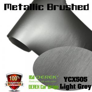 Quality Matte Metallic Brushed Vinyl Wrapping Film - Matte Metallic Brushed Light Grey for sale