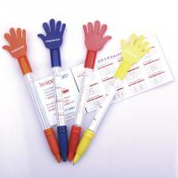 China hand style banner flag pen, promotional use pull out flag ball pen on sale