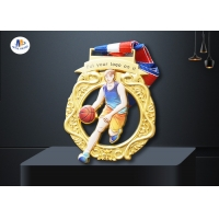 Basketball 65×4MM Cut Out  Medals for sale