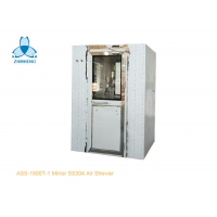 China Mirror SS304 Air shower room for one person, with UV light to kill virus, Single-leaf swing doors for sale