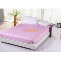 Quality Queen size Pink Bed Linen combed cotton sheets For Hotel / Spa / Home for sale