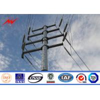 Best Hot Dip Galvanized Steel Electric Utility Poles For Electrical Distribution Line Project wholesale