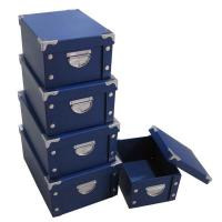 Best Craft Boxes Home Storage Box with Buttons Foldable Boxes Set of 6 wholesale