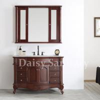 Buy cheap Daisy classical Bathroom Vanity use solid wood designs with mirror cabinet from wholesalers