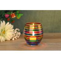 China Wedding Decorative Glass Candle Holder , Colored Glass Votive Candle Holders on sale