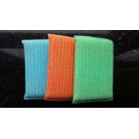 Best Blue / Green / Orange Scrubbing Sponges By Sponge Fabric / Steel Wire wholesale