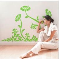 Quality Contemporary Cool Reusable Flower Tree Wall Stickers LY-013 for sale