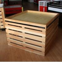 China Supermarket Fruit And Vegetable Wooden Retail Display Shelves / Wooden Display Units on sale