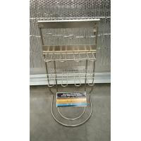 Best 2 Layer 9'' * 19'' * 8'' Steel Wire Display Rack 8 Hooks For Battery Advertising wholesale