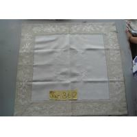 China Handmade Hemstitch Party Linen Tablecloths , Full Sizes Large Linen Tablecloth on sale