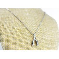 Quality Meaningful Wishbone Pendant Necklace , Wishbone Charm Necklace For Lucky Girls for sale