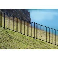 Buy cheap High Security Black Steel Tube Fence Powder Coated Steel Fence Panels from wholesalers