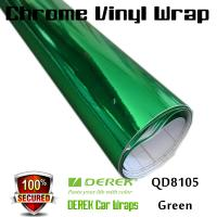 Quality Chrome Mirror Car Wrapping Vinyl Film 3 layers - Chrome Green for sale